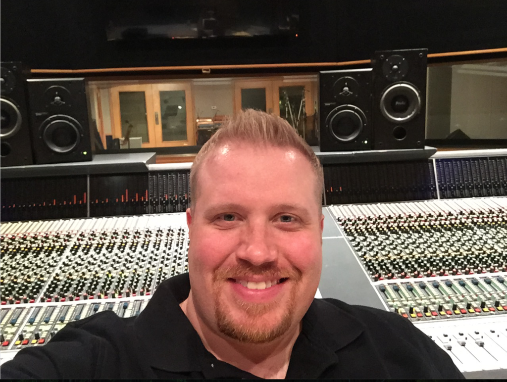 Rob Coates at OceanWay Studio (Adam Hatfield & Harrison Mixbus Project)